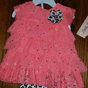 Two piece baby girl outfit 6 to 9 months